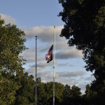 Flying Colors at half mast