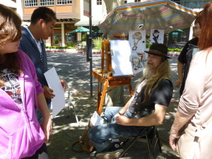 Caricatures at the Concord Farmer's Market