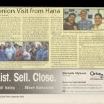 Seniors Visit from Hana