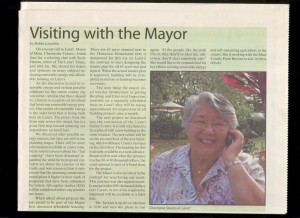 Visiting with the Mayor of Maui